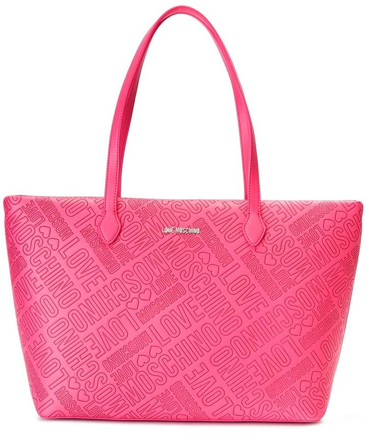 Love Moschino Love Moschino logo embossed tote