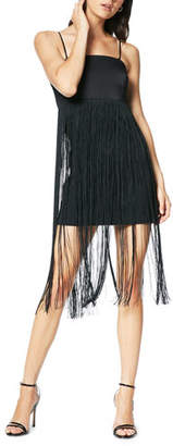 Ramy Brook Rikki Sleeveless Fringe Cocktail Dress