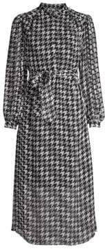 Equipment Francois Houndstooth Midi Dress