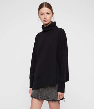 AllSaints Navarre Roll Neck Sweatshirt