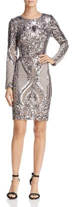 Aqua Long-Sleeve Sequin Dress - 100% Exclusive