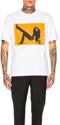 Calvin Klein Est. 1978 Icon Print Tee in White & Orange | FWRD