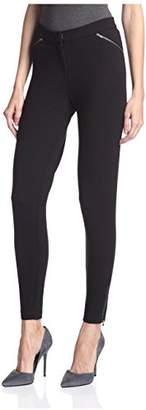 Society New York Women's Skinny Zipper Pants