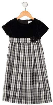 Florence Eiseman Girls' Plaid Velvet-Accented Dress
