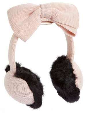 Kate Spade Half Bow Faux Fur Earmuffs