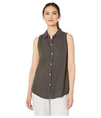 True Grit Dylan by Soft and Light Double Gauze Sleeveless Shirt with Button Back