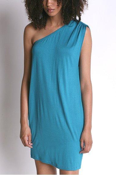 Silence & Noise Knit One Shoulder Dress