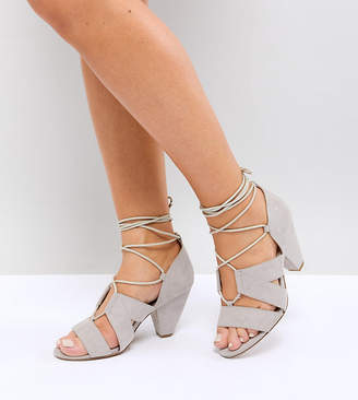 Asos TALI Wide Fit Lace Up Heeled Sandals