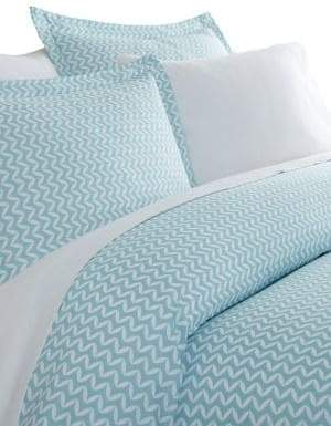 Blissful Bedding Premium Ultra Soft Three-Piece Puffed Chevron Print Duvet Cover Set