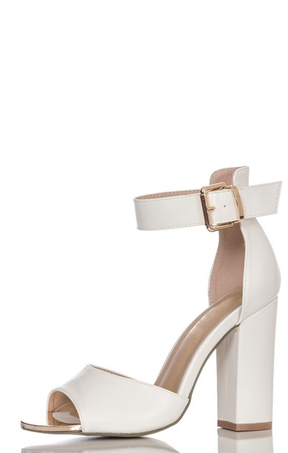 White Block Heel Shoes - ShopStyle Australia