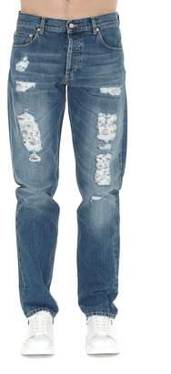 Alexander McQueen Distressed Jeans