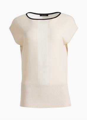 St. John Fine Gauge Bateau Neck Sweater