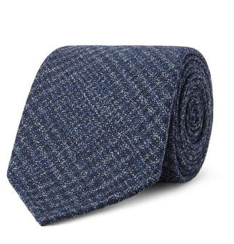 Drakes Drake's 8cm Prince Of Wales Checked Wool Tie