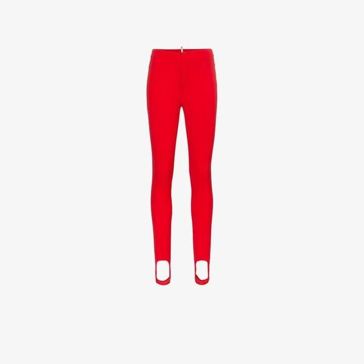 stirrup skinny-fit trousers