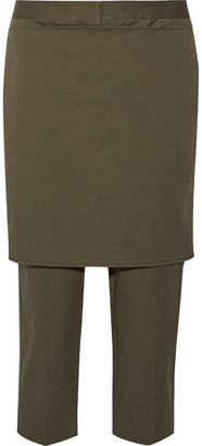 3.1 Phillip Lim - Cropped Cotton-blend Straight-leg Pants - Army green $425 thestylecure.com