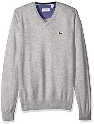 Lacoste Men's Seg 1 Cotton Jersey V-Neck Sweater