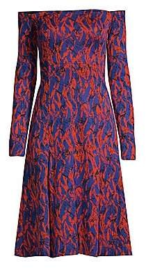 Derek Lam Women's Off-The-Shoulder Abstract Print Dress