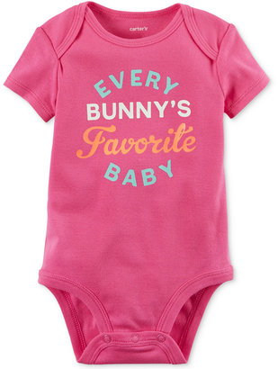 Carter's Every Bunny's Favorite Baby Bodysuit, Baby Girls (0-24 months) $12 thestylecure.com