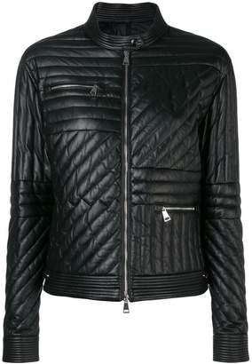 Moncler leather padded jacket