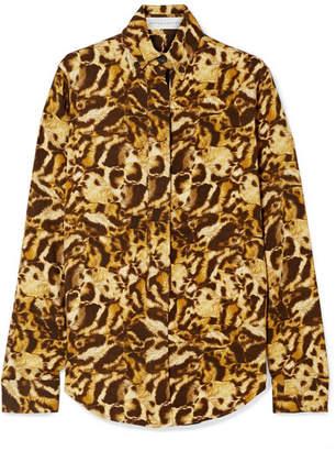 Victoria Beckham Leopard-print Jersey Shirt - Brown