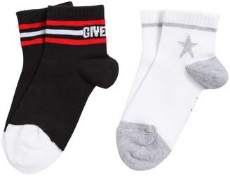 Givenchy 2 Pairs Of Cotton Knit Socks