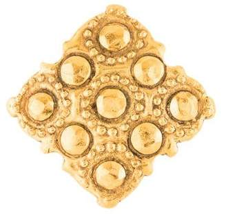 Chanel Hammered Stud Brooch