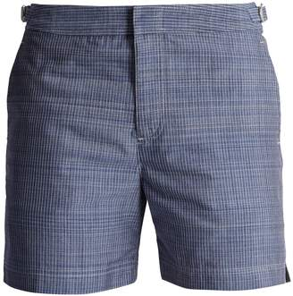 Orlebar Brown Chambray striped mid-length swim shorts