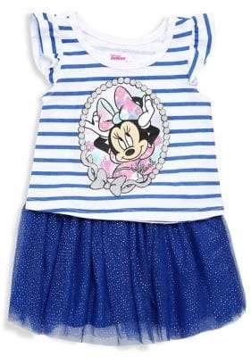 Nannette Little Girl's 2-Piece Minnie Mouse Skirt Set