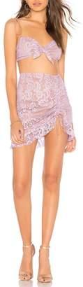 For Love & Lemons Valentina Mini Skirt