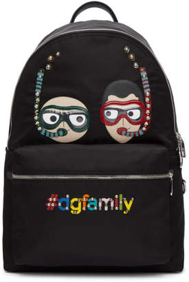 Dolce & Gabbana Black Scuba Family Backpack