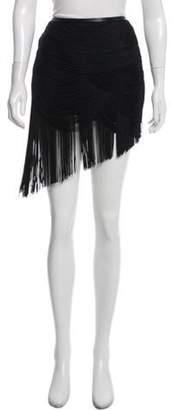 Haute Hippie Silk Tassel Mini Skirt Black Silk Tassel Mini Skirt