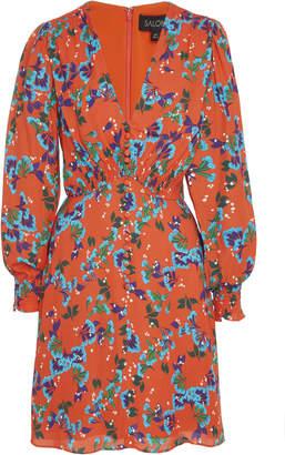 Saloni Eve Button Front Mini Dress