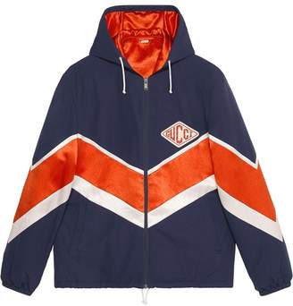 Gucci Nylon jacket with game patch