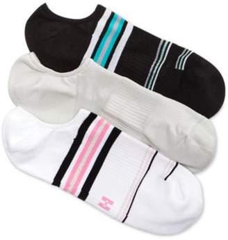 Hue Women's 3-Pk. Air Sleek Compression Cushioned Liner Socks