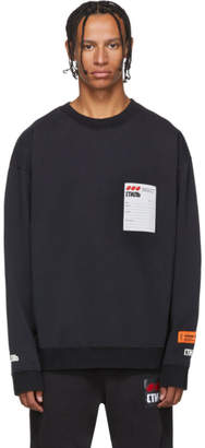 Heron Preston Black Sticker Label Sweatshirt