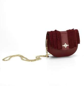 Kia Ora Burgundy Leather Luna Crossbody Bag