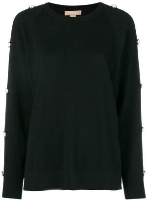 Michael Kors embellished long-sleeve sweater