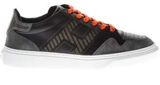 Hogan H365 Black Leather & Suede Low-top Sneakers