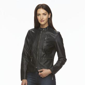 Women's Apt. 9 ̈ Faux-Leather Peplum Jacket $78 thestylecure.com