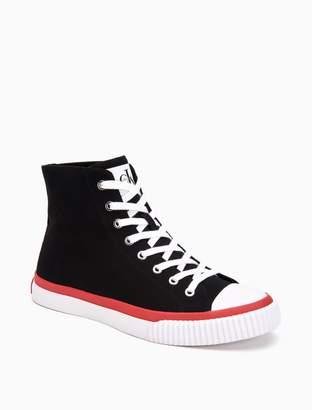 Calvin Klein iona monogram logo canvas high top sneaker