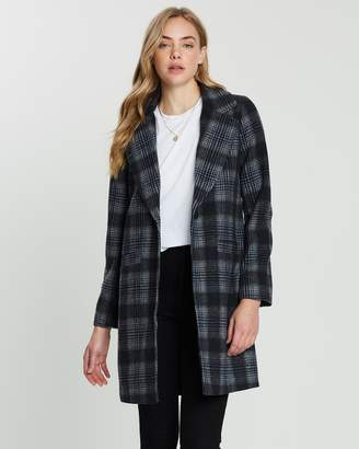 All About Eve Off-Beat Plaid Coat