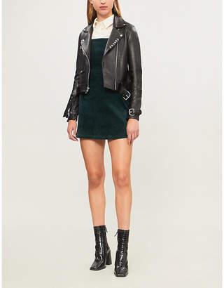 Maje Boilt ring-detail leather jacket
