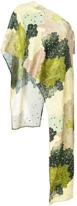 Off-White floral print one shoulder top