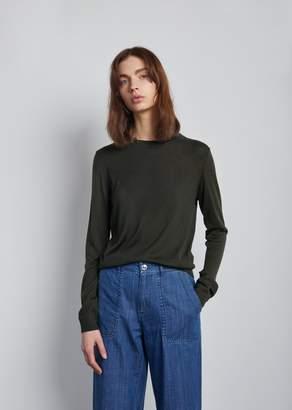 A.P.C. Jinn Crewneck Sweater Vert Fonce