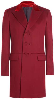 Alexander McQueen Wool Coat with Velvet
