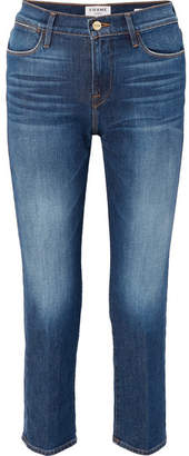 Frame Le High Straight-leg Jeans - Mid denim