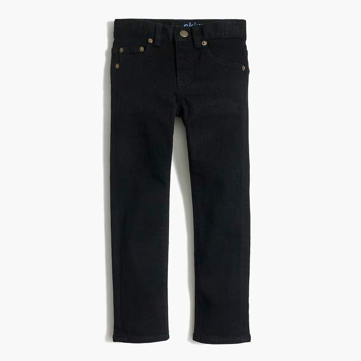 J.Crew Factory Boys' slim-fit black flex denim