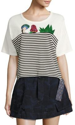 Marc Jacobs Marc Jacobs Embellished Cropped Top