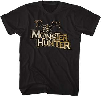 Hunter American Classics Monster Capcom Mh Logo Action Role Playing Video Game Adult T-Shirt
