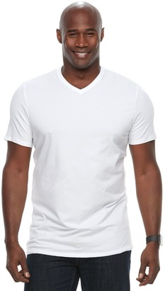 Apt. 9 Big & Tall Core Solid V-Neck Tee